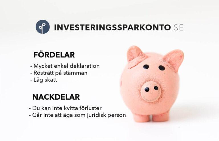 Investeringssparkonto ISK fördelar och nackdelar